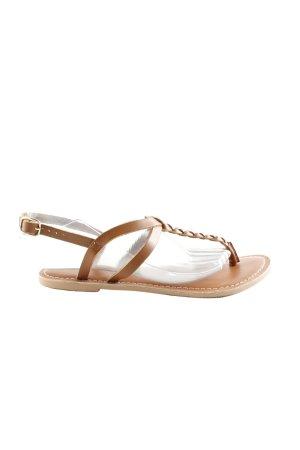 Dorothy Perkins Sandalo toe-post marrone stile casual