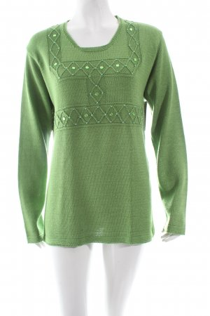 Dorsa woman's wear Gebreide trui grasgroen glitter-achtig