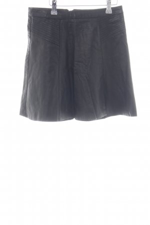 Dotti Faux Leather Skirt black casual look