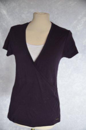 Zero Camiseta violeta oscuro-blanco