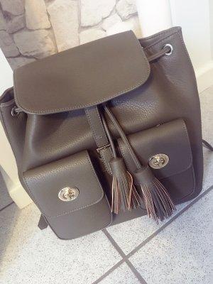 Double Pocket Backpack with Tassle Details