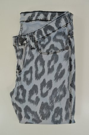DR.DENIM Damen Jeans Jeggings Kissy Skinny Fit Leo-Print Hellblau Grau Gr. S