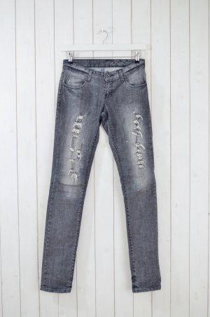 DR.DENIM Damen Jeans Mod. JAMIE 141 Grau Used Skinny Baumwolle Elastan Gr.27/34