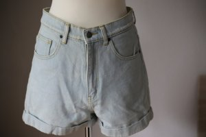 Dr. Denim High Waist Jeansshorts in hellblau