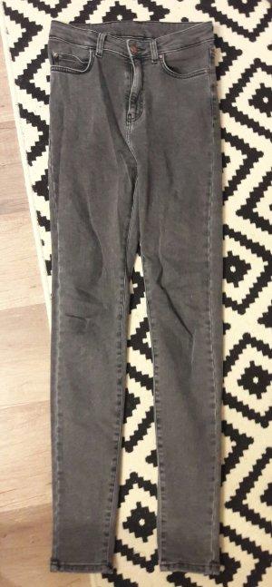 Dr.Denim Jeans Highwaist Skinny Slim Fit Röhre Grau 27/32