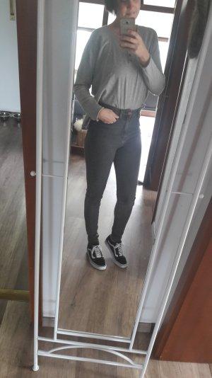 Dr. Denim Jeans Highwaist Skinny Slim Fit Röhre Grau