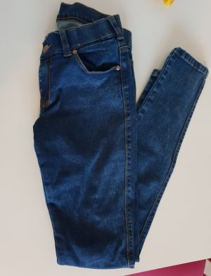 Dr. Denim Pantalon cigarette bleu