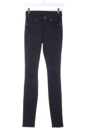 Dr. Denim Drainpipe Trousers black casual look