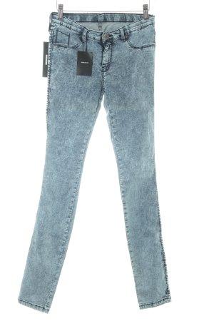 Dr. Denim Skinny Jeans graublau-blassblau Biker-Look