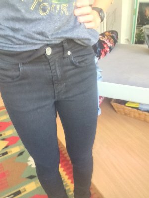 dr. denim skinny jeans schwarz 27/32 röhrenjeans