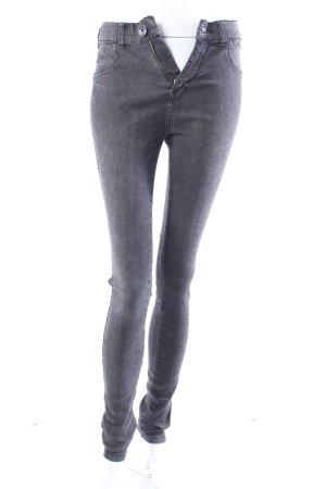 Dr. Denim Jeans skinny gris anthracite-noir