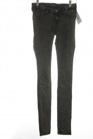 Dr. Denim Skinny Jeans schwarz-grüngrau meliert Biker-Look