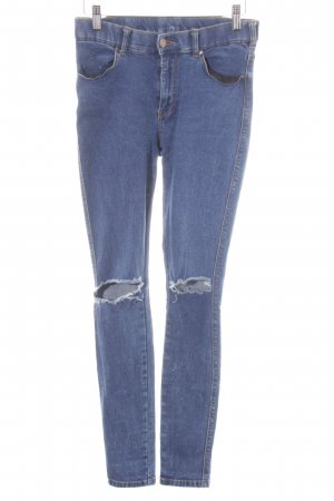 Dr. Denim Stretch Jeans blau meliert Destroy-Optik
