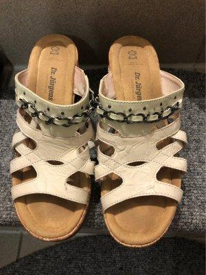 Sandales à lanière crème