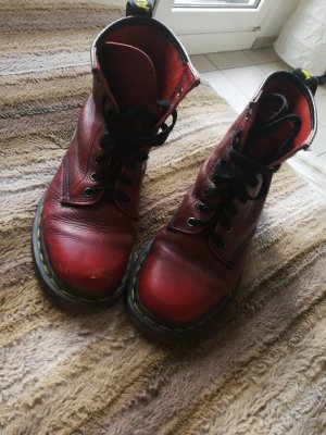 Dr. Martens Lace-up Boots black-dark red