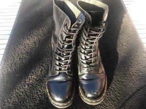 Dr. Martens Bottes à lacets noir-jaune cuir