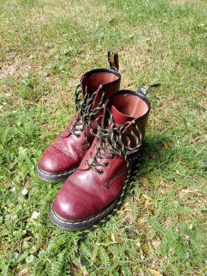 Dr. Martens Combat Boots multicolored leather