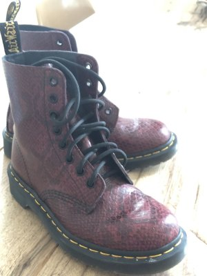 Dr. Martens Lace-up Boots bordeaux-brown red leather