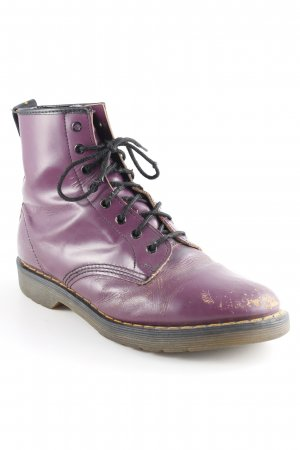 Dr. Martens Ankle Boots purpur Maskulin-Look