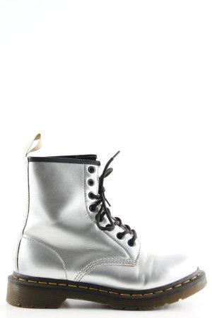 Dr. Martens Botas de tobillo color plata look Street-Style