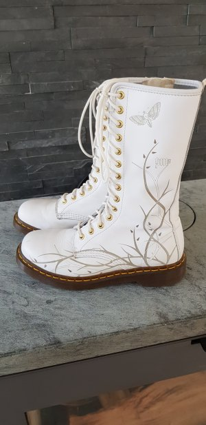 Dr. Martens Combat Boots white leather