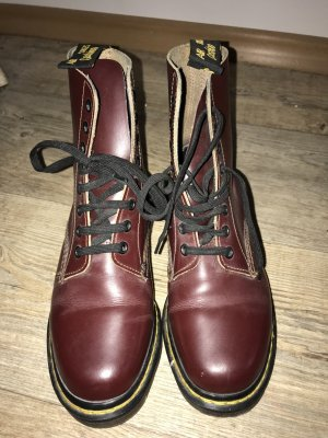 Dr. Martens Boots in burgundy, wie neu, Original aus London, 35/36