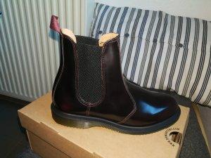 Dr. Martens Chelsea Boot noir-bordeau cuir