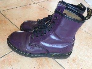 Dr. Martens Botas con cordones violeta oscuro