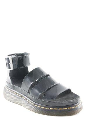 Dr. Martens Komfort-Sandalen schwarz Lack-Optik
