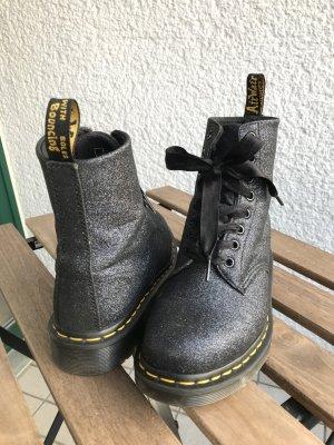 Dr. Martens Aanrijg laarzen donkerblauw-zilver Synthetisch