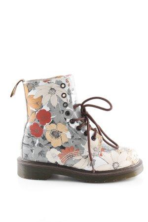 Dr. Martens Platform Booties flower pattern extravagant style