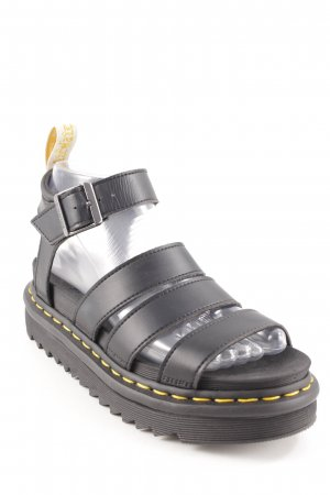 Dr. Martens Strapped High-Heeled Sandals black-primrose street-fashion look