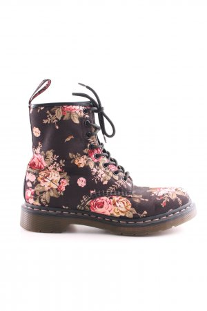 Dr. Martens Lace-up Booties flower pattern casual look