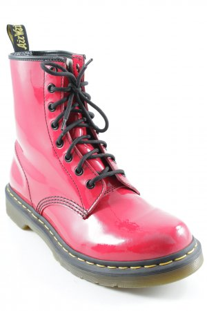 Dr. Martens Lace-up Booties red extravagant style