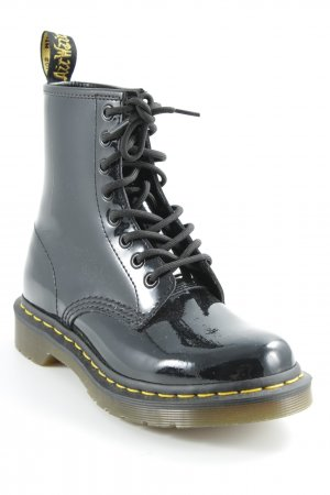Dr. Martens Bottines à lacets noir style rockabilly