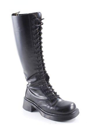 Dr. Martens Bottes à lacets noir Look de motard