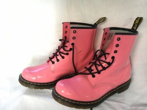 Dr. Martens Combat Boots neon pink-pink