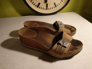 Dr. Scholl Sandalen * Keilabsatz * Plateau * Wildleder * Kork * Größe 38