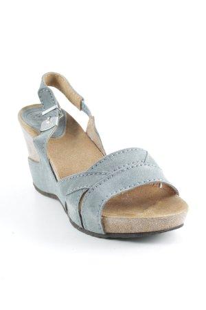 "Dr. Scholl Wedges Sandaletten ""May"" graublau"