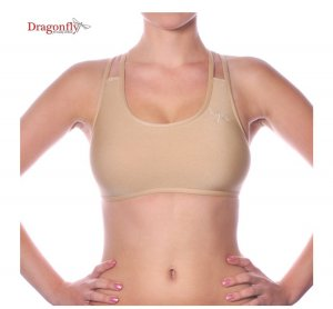 Dragonfly nude top S beige pole dance yoga dragonflybrand