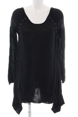 Dranella Robe en maille tricotées noir style décontracté