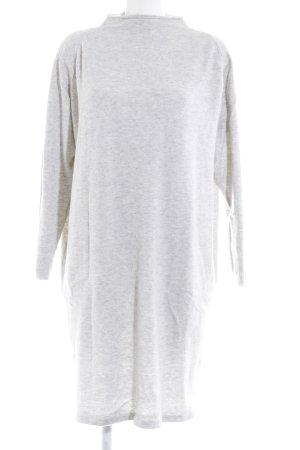 Dranella Abito di maglia grigio chiaro-bianco sporco puntinato stile casual