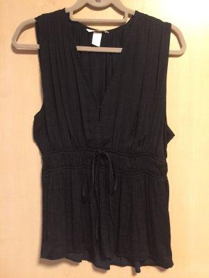 H&M Chemisier noir polyester