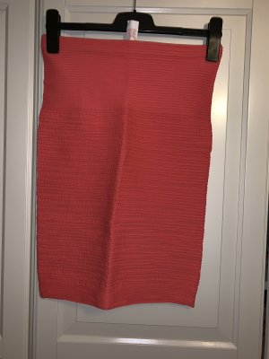 Only Falda stretch rojo claro