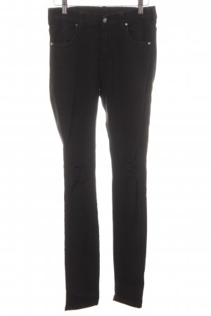 DRDENIM JEANSMAKERS Hoge taille jeans zwart ontspannen stijl