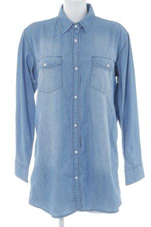 DRDENIM JEANSMAKERS Jeansbluse blau Jeans-Optik
