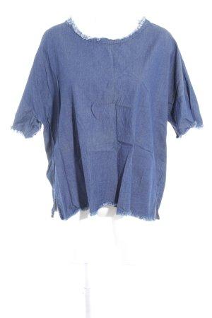 DRDENIM JEANSMAKERS Blouse en jean bleu acier style décontracté