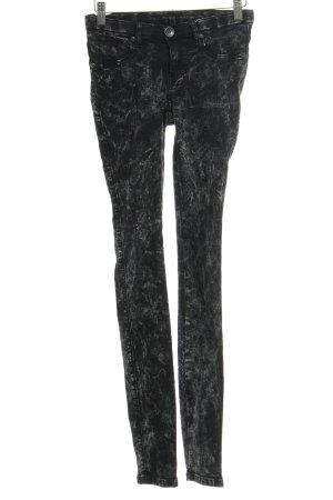 DRDENIM JEANSMAKERS Jeggings schwarz-grau Farbtupfermuster Street-Fashion-Look