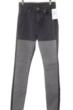 DRDENIM JEANSMAKERS Pantalon cigarette gris foncé-gris style décontracté