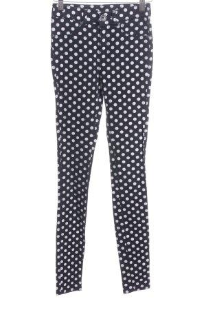 DRDENIM JEANSMAKERS Skinny Jeans weiß-schwarz Punktemuster Casual-Look
